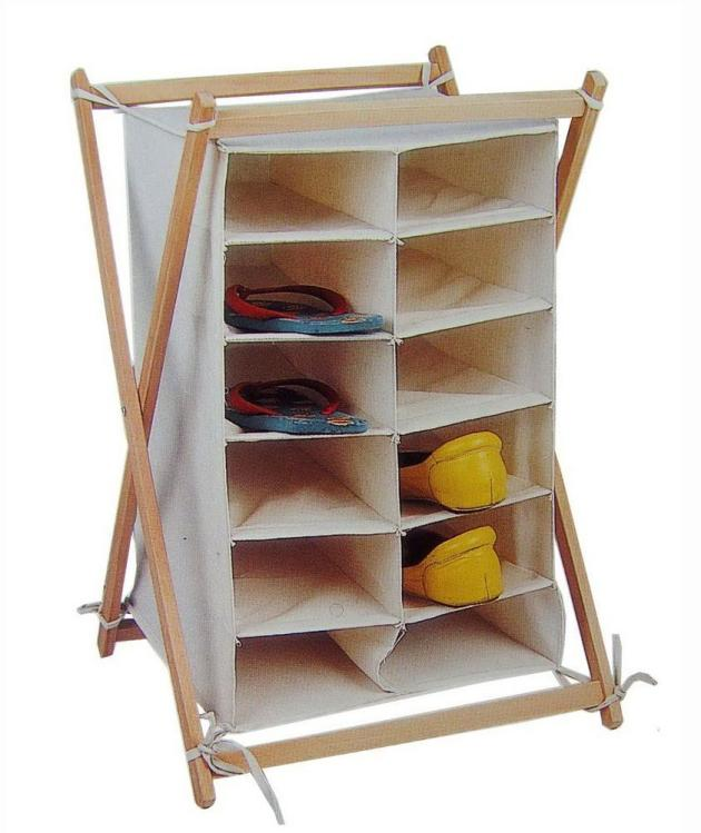 designs shoe racks in wood