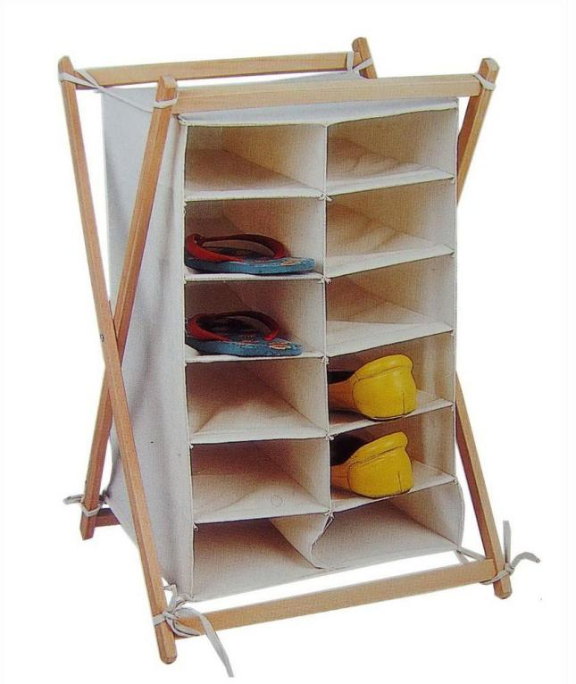 shoe rack design wood